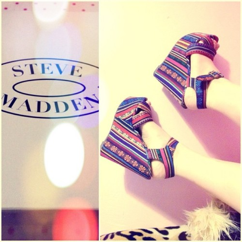 #aztec #wedges #stevemadden #boho #bohemian #fashion #summer  (Taken with Instagram)