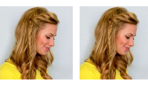 "The fish braid has been a trend I don't think I will ever get tired of. I think its chic and can be done in so many different ways from polished to messy, although I prefer it ""undone"". This is a fish braid with a different twist. Love!!"
