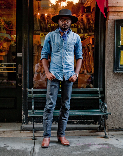 alexandergrant:  gqfashion:  Street Style: New York City  James  hubbah.