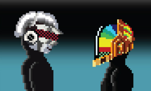 it8bit:  Pixel Daft Punk Created by Juhyoung Lee