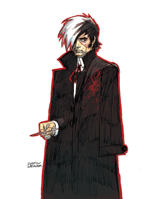 dustinweaver:  I'm a huge Tezuka fan.  Here's a little Black Jack fan sketch to start the day with. Click on the Osamu Tezuka tag to see my past Tezuka fan drawing.