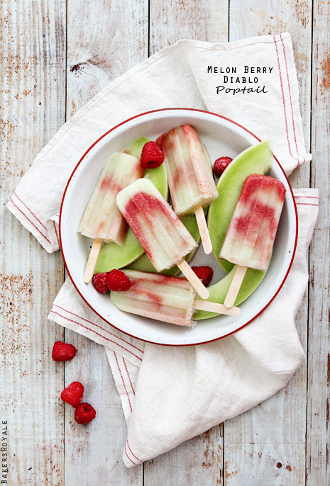 gastrogirl:  melon berry diablo cocktail popsicles.