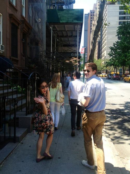 Lunch break…even in the New York City heat we still have fun! —Kelly Mcguire, Junior Designer