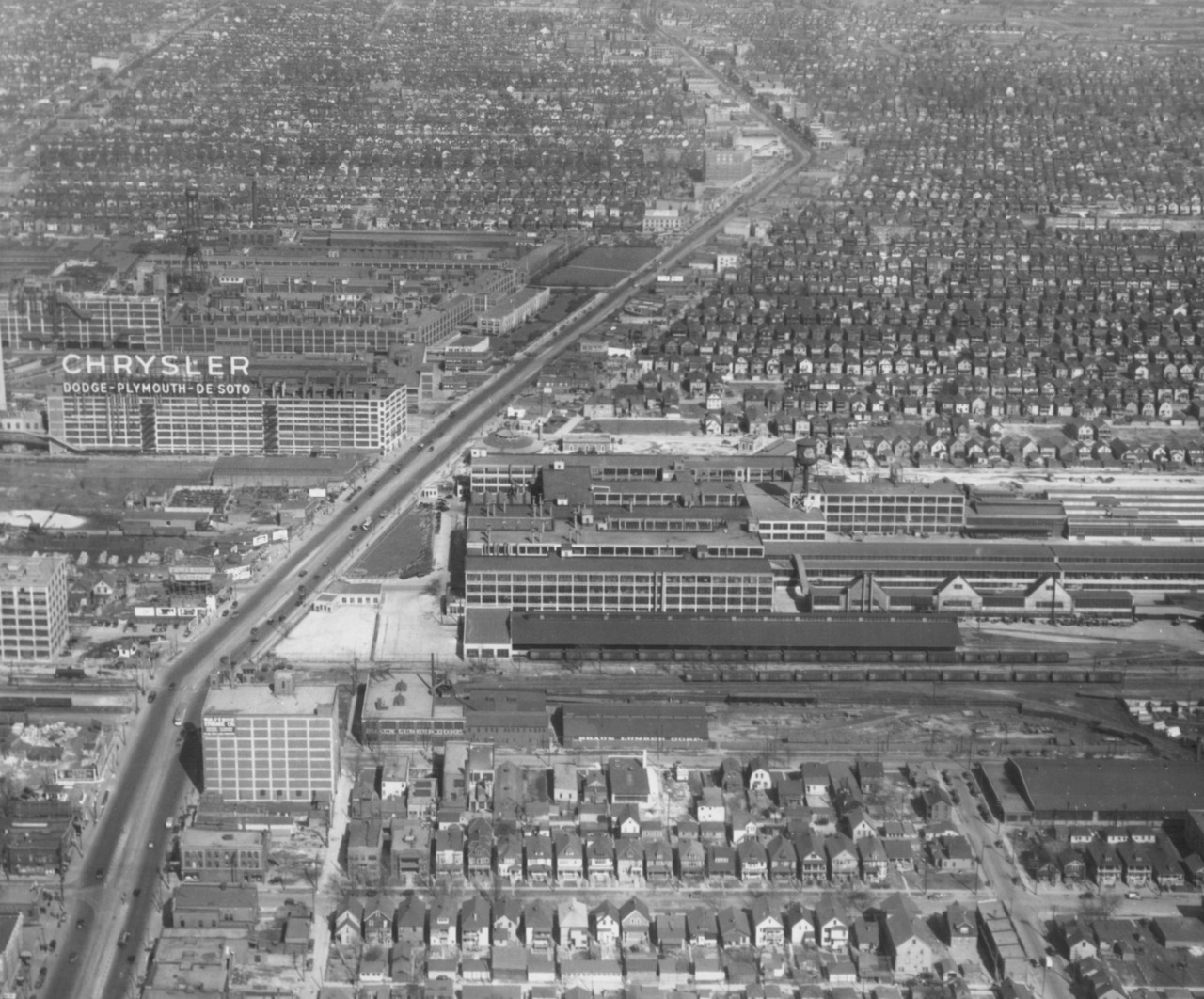 Detroit Arial Views 1940-1959