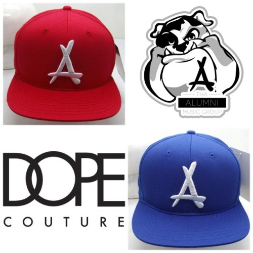 Infrared & Royal Blue are the ONLY Strapback Colors left..get em now of u want one, there's not very many left! http://tinyurl.com/AlumniDopeSummer12