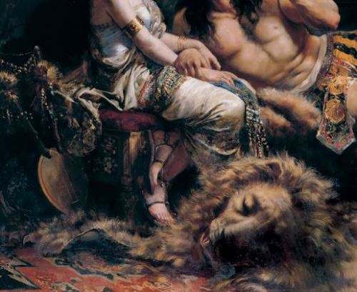 artdetails:  Jose Echena, Samson and Delilah (detail)