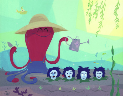 heyoscarwilde:  In an octopus' garden in the shade… The Beatles illustrated by Drake Brodahl :: via pumml.blogspot.ca