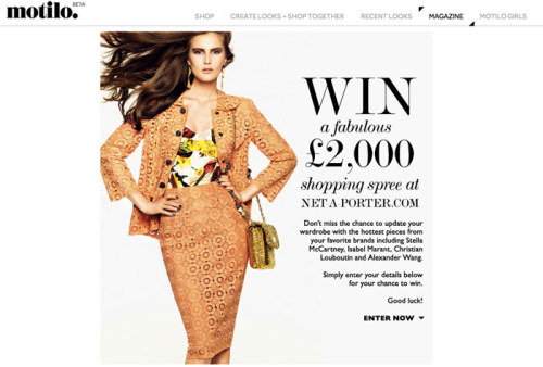 enter to win a fabulous shopping spree from net-a-porter.com . click here for details .