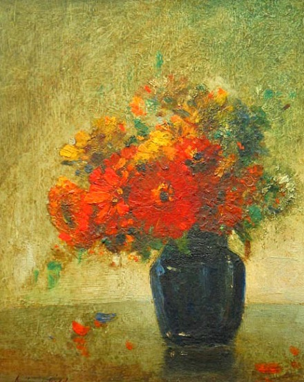 Elliott Daingerfield Vase of Flowers 19th century