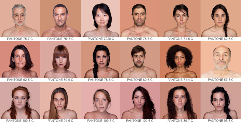 explore-blog:  PANTONE skin color spectrum, so great. Also see PANTONE's color history of the 20th century. (↬ this isn't happiness)