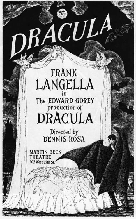 wednesdayfuckingaddams:  Poster for Edward Gorey's Broadway production Dracula