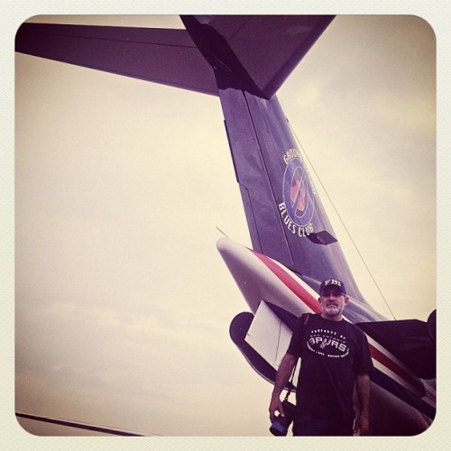 Standing behind Morgan Freeman's jet. (Taken with Instagram)