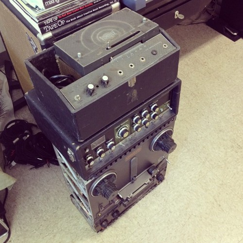 Tower of Tape Echo  Maestro Echoplex, Roland RE-201 Space Echo, Otari MX5050 2 Track Reel-to-Reel