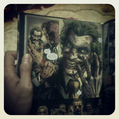 Joker graphic novel was dark like the late Heath Ledger potray The Joker in The Dark Knight  (Taken with Instagram)