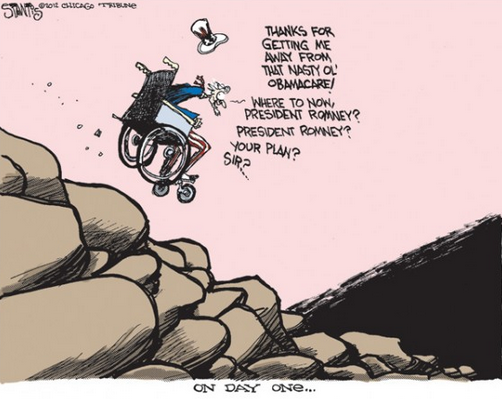 Cartoon of the day: Romney's rough plan SCOTT STANTIS © 2012 Tribune Media Services More cartoons