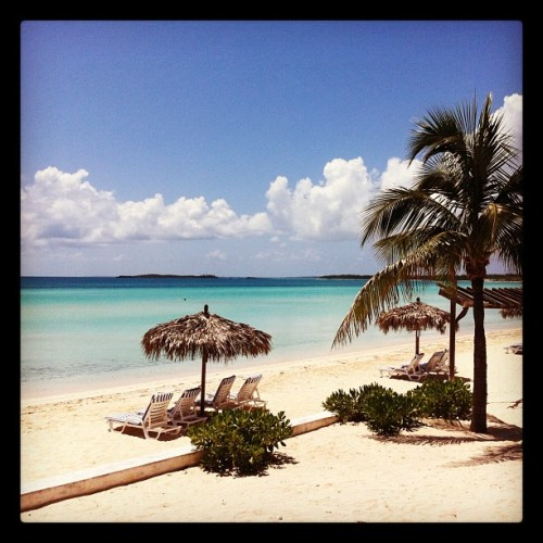 The setting #FromWhereISit #BeachSide in #Eleuthera #Bahamas  (Taken with Instagram at Eleuthera)