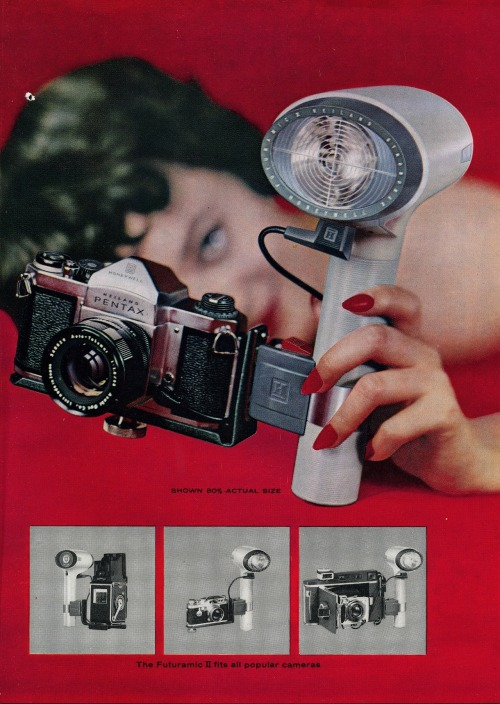 hollyhocksandtulips:  Heiland Pentax / Futuramic II Strobonar US Camera Magazine, 1961