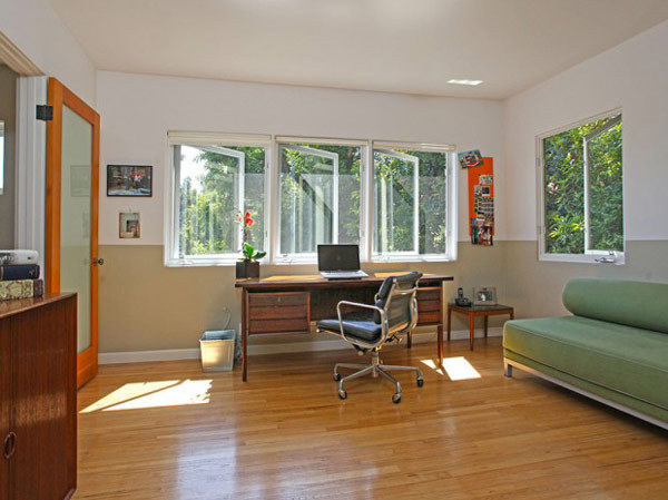 This is the home workspace of Michael C. Hall from the television series, Dexter.