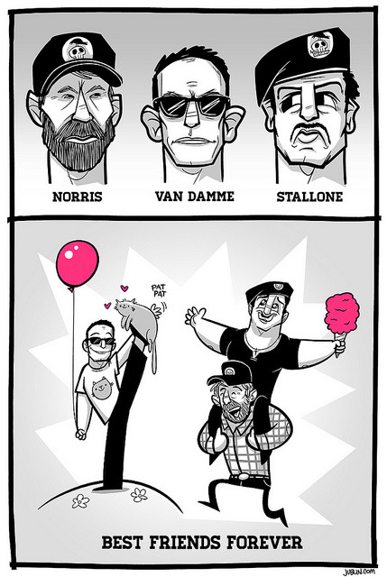 The Expendables illustration by Justin White :: via jublin