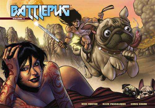 mugsofpugs:  Mike Norton's Battlepug is the pug book of the year! It's on sale now! submitted by pizza-party