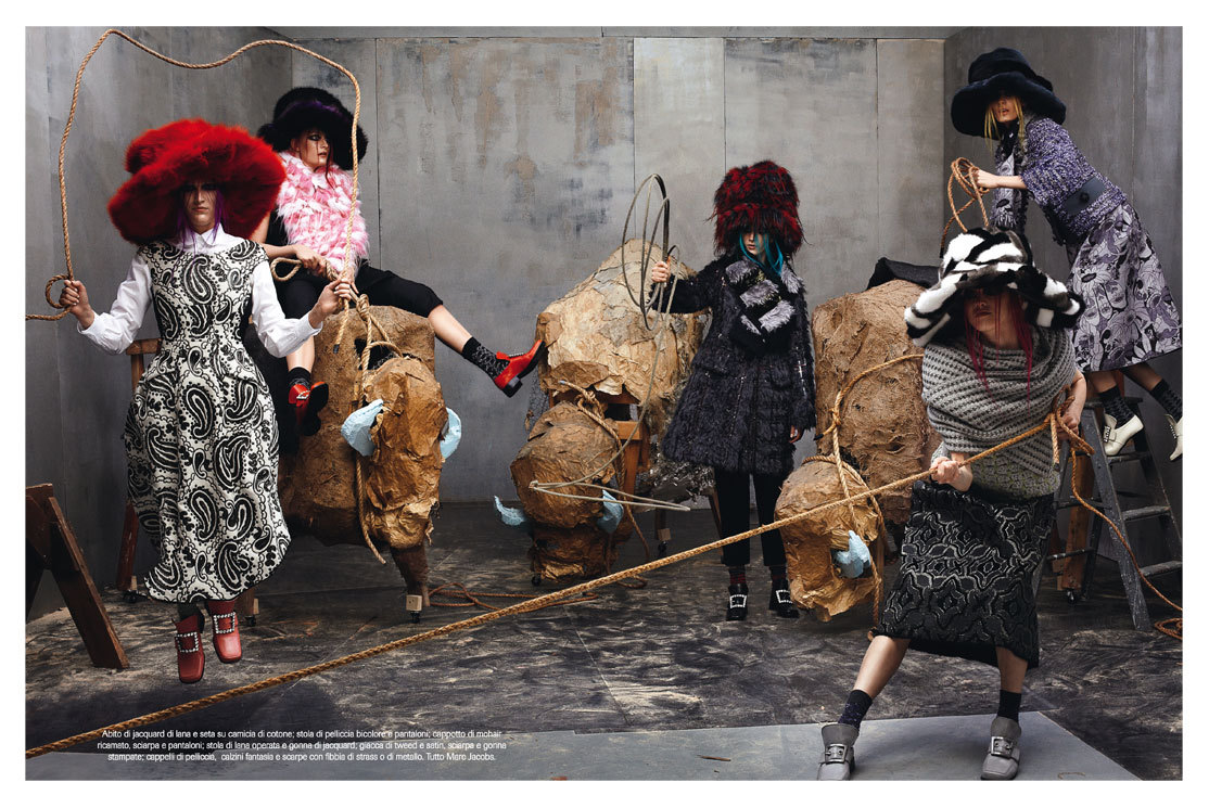 Vogue Italia July 2012 – Collections Photographer: Steven MeiselStylist: Karl Templer