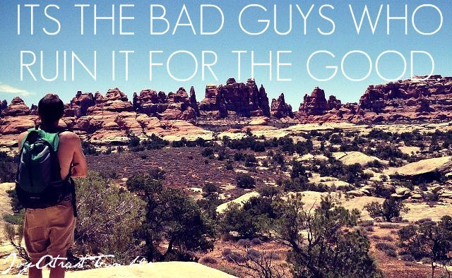 Its the bad guys who ruin it for the good. IvyAtrakt-Tumblr