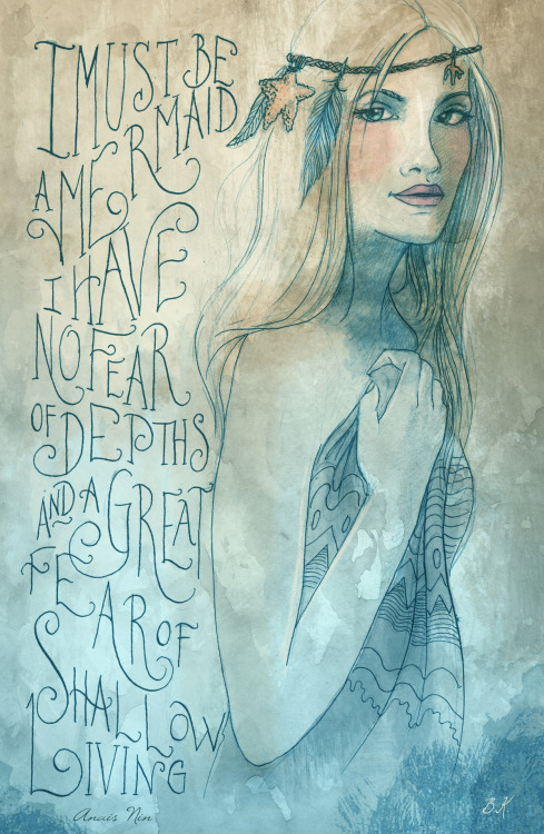 (via I must be a mermaid Art Print by Biljana Kroll | Society6)