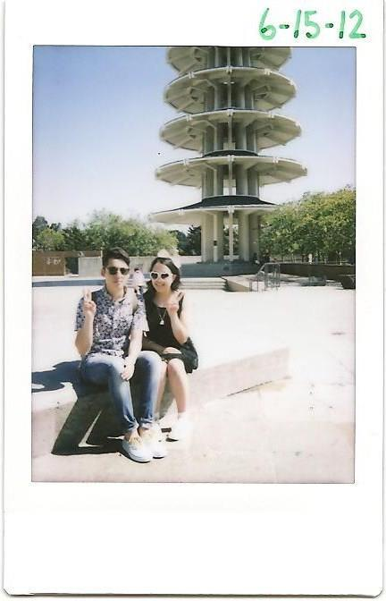 ciao-ragazzo:  with the best friend for a japan town polaroid