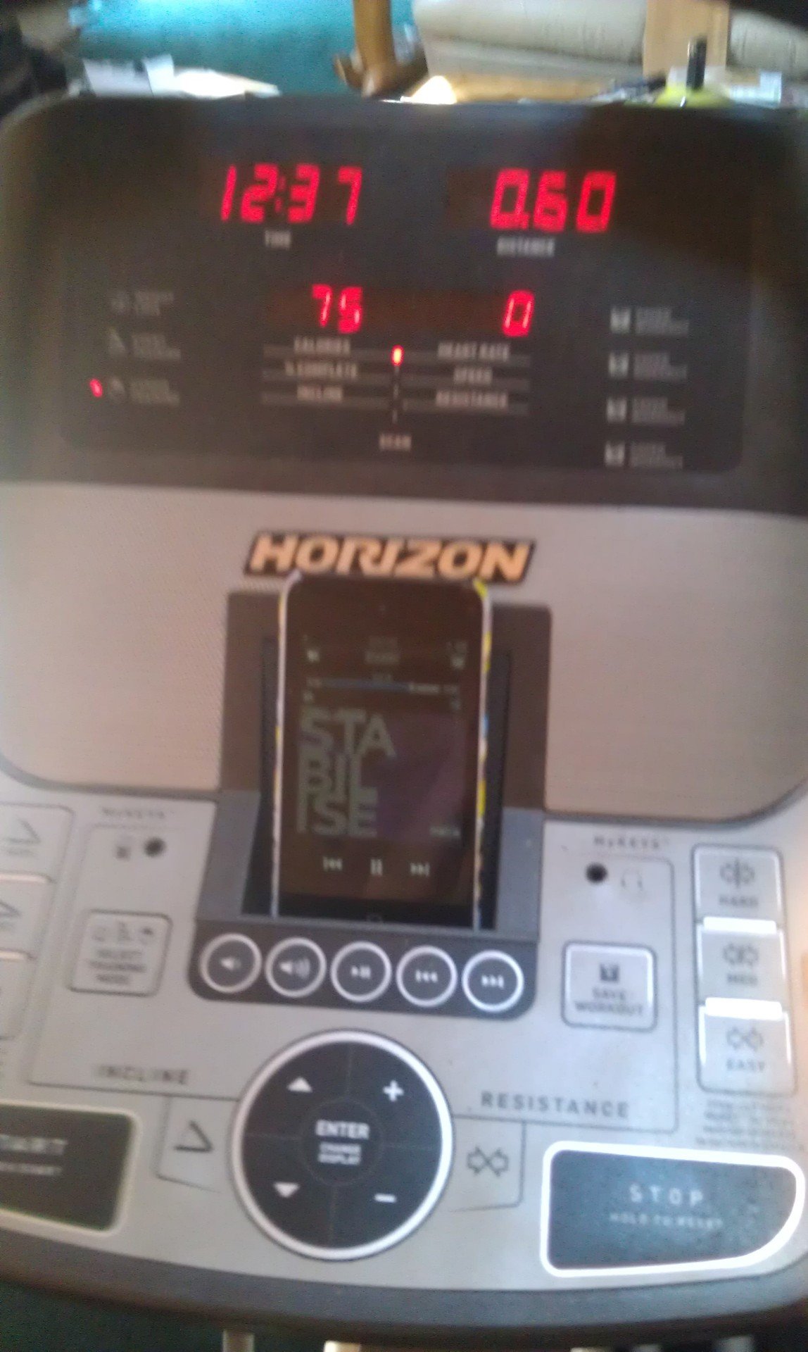 early on in the second workout of the day :) elliptical!