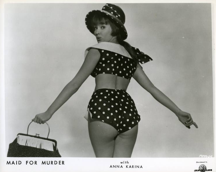 Lobby card for She'll Have to Go (released as Maid for Murder in the US), 1962.