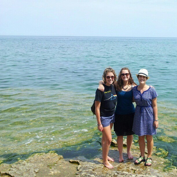 How am I the shortest?! #sisterlife  (Taken with Instagram at Cave Point County Park)