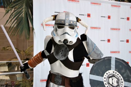 "Starwars * Skyrim * Cosplay  (I took a lightsaber to the knee.)  tiefighters:  ""Star"" Rim @AnimeExpo 2012 - Gallery here Image by GetChu"