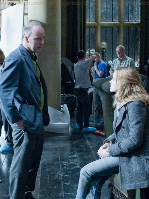hpcast:  BTS Photo from HP and Deathly Hallows