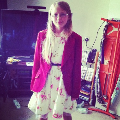 F in pretty dress and blazer (Taken with Instagram)