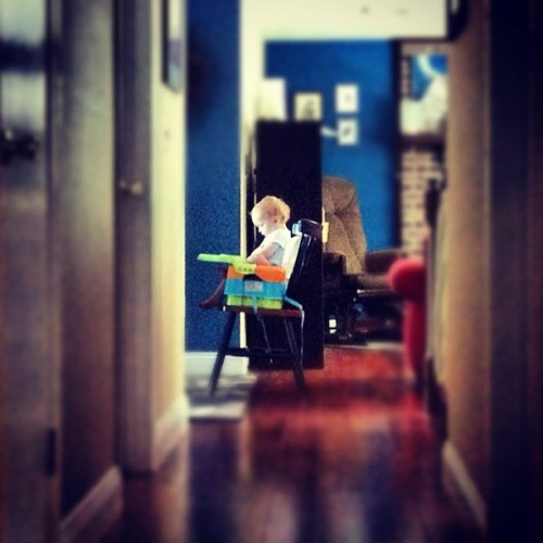 In his #chair. #photoadayjuly  (Taken with Instagram)