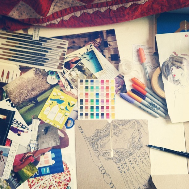 Creating lesson plans based on art making. (Taken with Instagram)