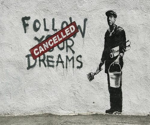 milchstern:  Banksy. Graffiti artist, political activist and painter.