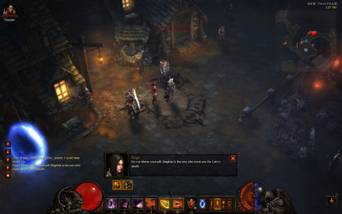 Um..this is a funny Diablo III bug. Deckard Cain appears to be caught in some kind of zombie state.