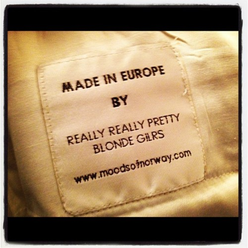 Label on the inside of my new pants. Hilarious.  (Taken with Instagram)