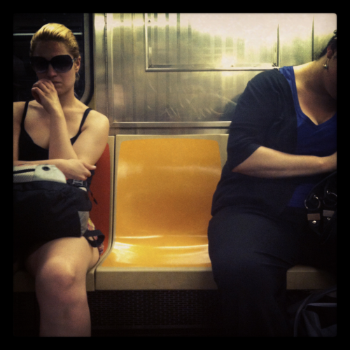 Between two commuters