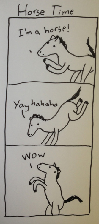 lifescreamcomic:  I don't know why people say drawing horses is hard, they're basically just stupid looking dragons