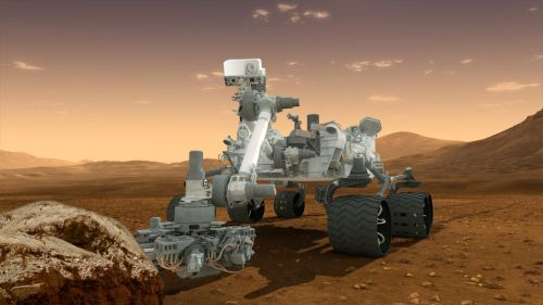 kaleidoscopicmind:  New Rover Could Seek Evidence of Ancient Mars Life Just Below Surface: Study  Evidence of ancient life on Mars, if any such evidence exists, might be detectable at shallower depths below the planet's surface than has been thought, a new study says – which would improve the chances that NASA's newest Mars rover, scheduled to touch down on the Red Planet next month, finds it. The research indicates that simple organic molecules, such as a single molecule of formaldehyde, could exist a mere 2 to 4 inches (5 to 10 centimeters) beneath the Martian surface. While the radiation level at these depths is still intense, simple building blocks of life (and, in the case of young craters, perhaps even complex building blocks) could survive, the researchers said.  Read full article