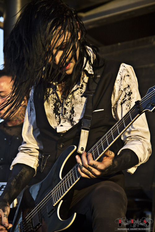 "narc0tic-sweet-talk:  Ricky ""Horror"" Olson - Motionless in White @ Warped Tour 2012, Pomona CA KMS Photography"