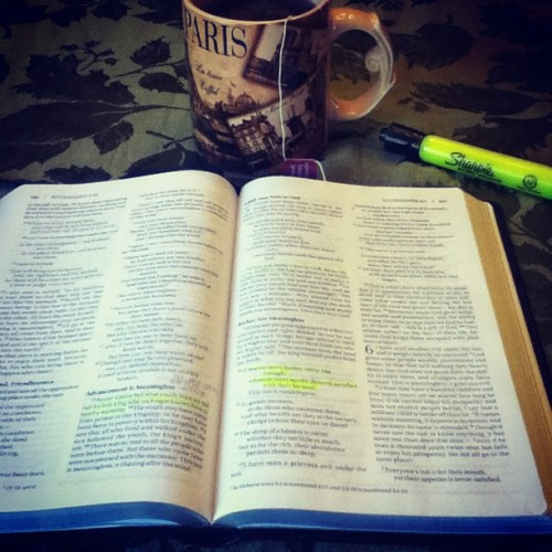 Tea and the Bible. What could be better? (Taken with Instagram)