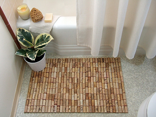 Start uncorking to get the ultimate, wine cork bathmat. Great tutorial from Crafty Nest here. - Team Forrage