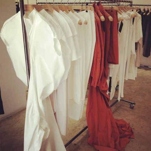 The clothing at the Rick Owens show room at 250 Hudson is tasty as well.  (Taken with Instagram)