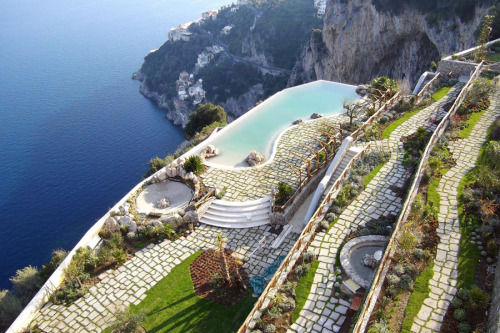 That is one amazing pool and quite a stunning view. {Monastero Santa Rosa Hotel & Spa in Conca Dei Marini, Amalfi Coast}