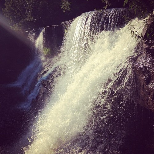 Taken with Instagram at Falls of the Chagrin River