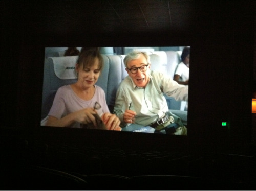 Just hanging out with Woody Allen and Judy Davis this afternoon.