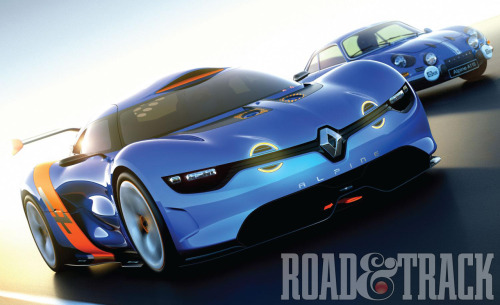 The 50th anniversary Renault Alpine A110-50 is created to commemorate the Alpine A 110 Berlinette, one of the most successful rally cars in the '60s. (Source: Road & Track)